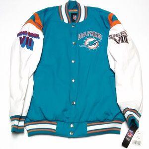 Miami Dolphins Varsity Bomber Super Bowl Jacket